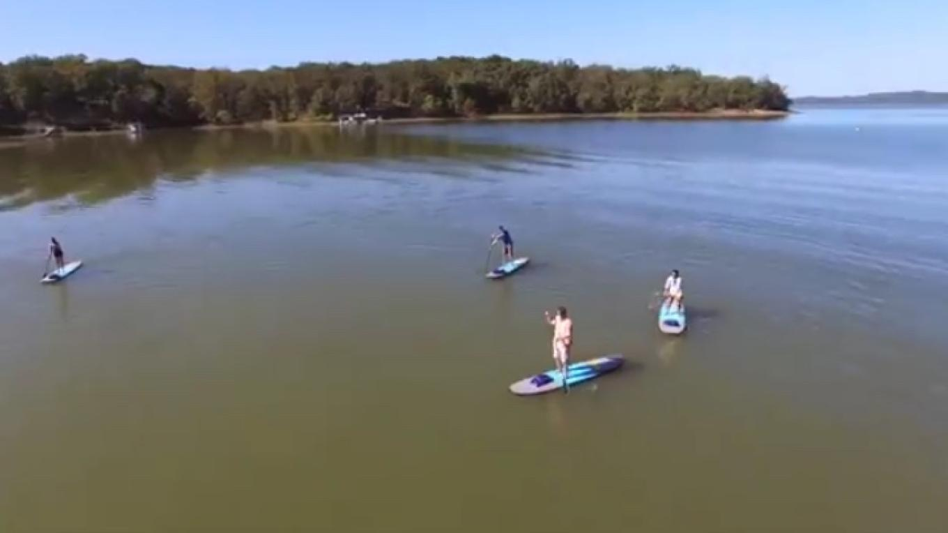 Paddle boarding near Murray, Kentucky