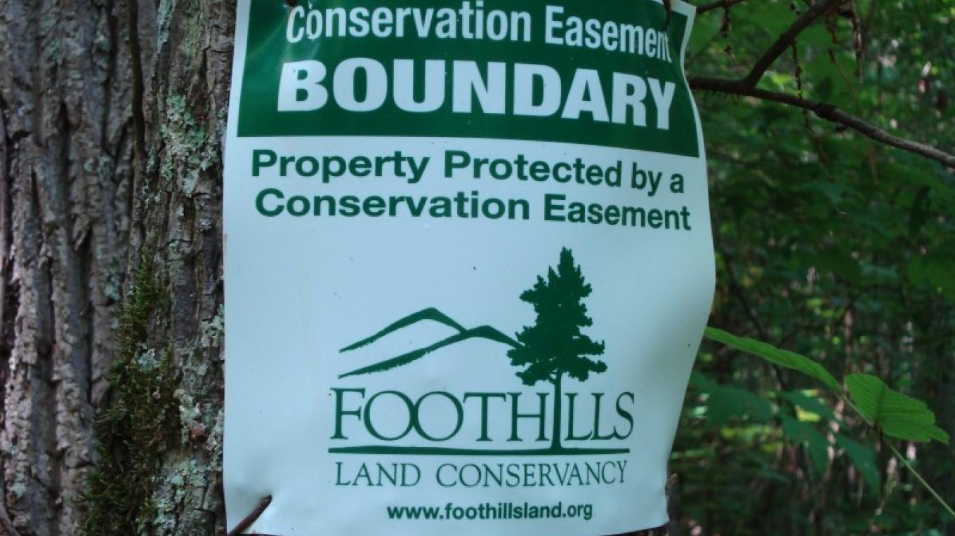 FLC Conservation Easement Sign – Elise Eustace, FLC Staff