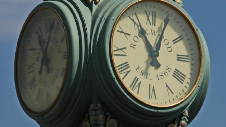 Clock located at Homecoming Park – Roane County Visitors Bureau