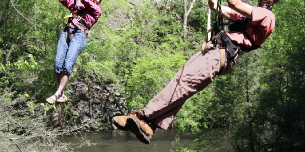 Pigeon River Canopy Tours is the only zip course that crosses over the Pigeon River twice – Wildwater Adventure Centers