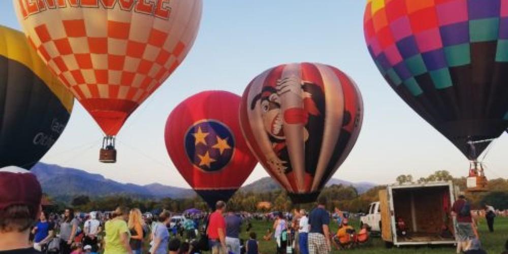 Tethered rides weather permitting. – Great Smoky Mountain Balloon Festival