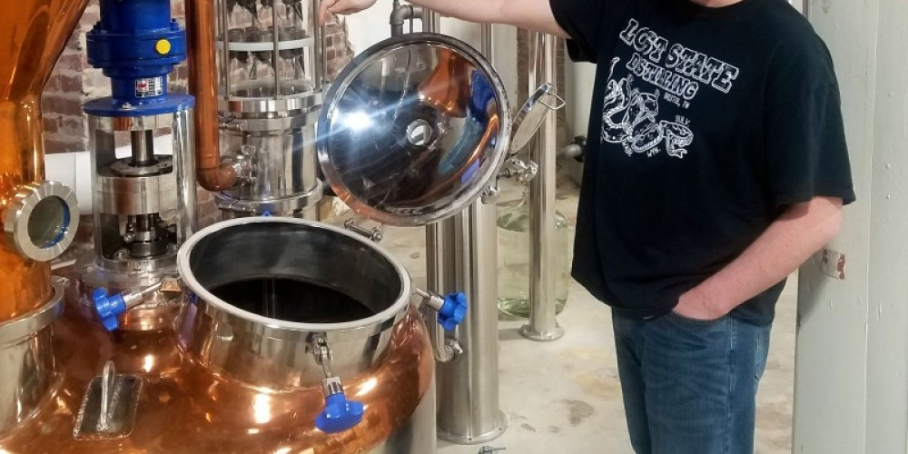 Staff at Lost State Distillers offer tours of the facility and talks about their products and the processes for making their various liquors. – Mark Engler