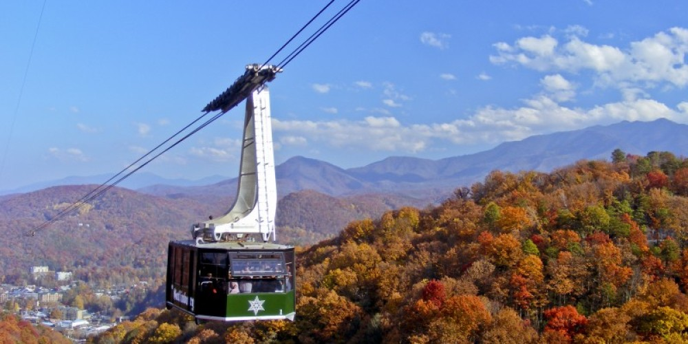 Fall view from the Aerial Tramway – Ober Gatlinburg