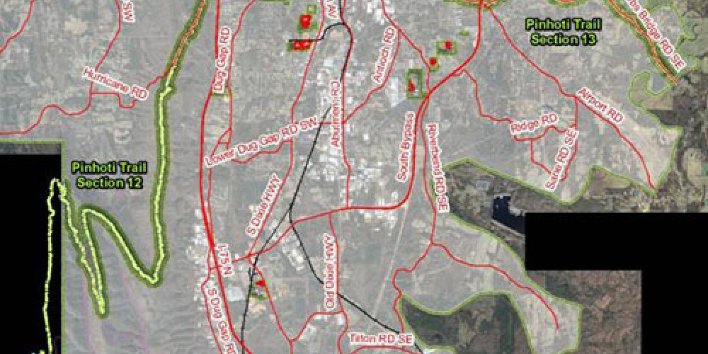 Pinhoti Trail Map in Whitfield County, Georgia – Whitfield County