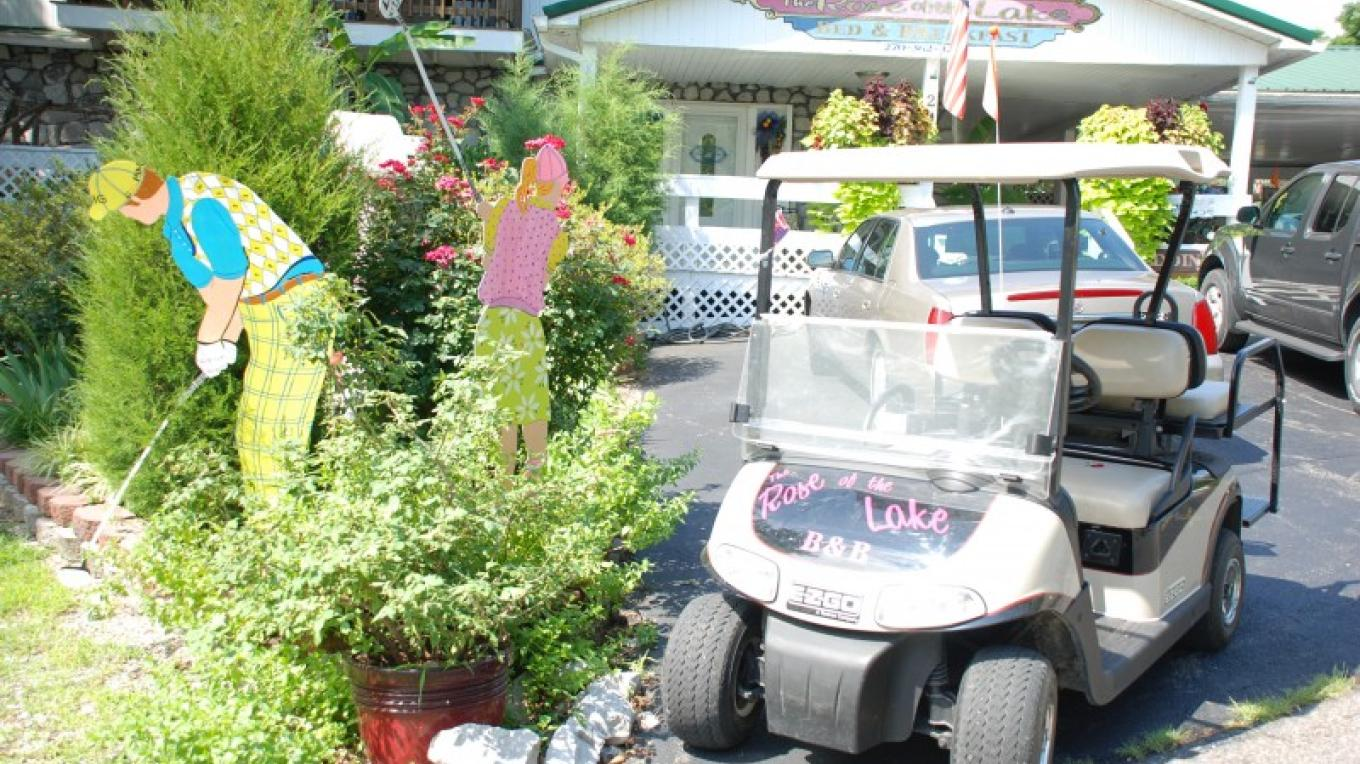 Free use of Golf carts when you stay at The Rose of the Lakes Bed and Breakfast – Ann Martin