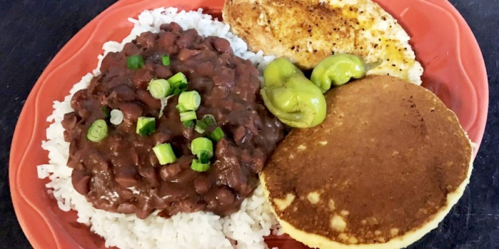 Cajun Chicken with red beans, rice, and cornbread – Dover Grille