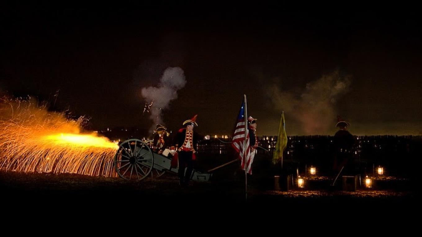 Firing of the Cannon during the Colonial Candlelight Tour – Matt Pavel, Pavel Studios Photography