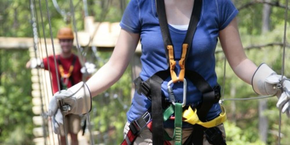 Swinging bridge across the valley – Wildwater Adventure Centers