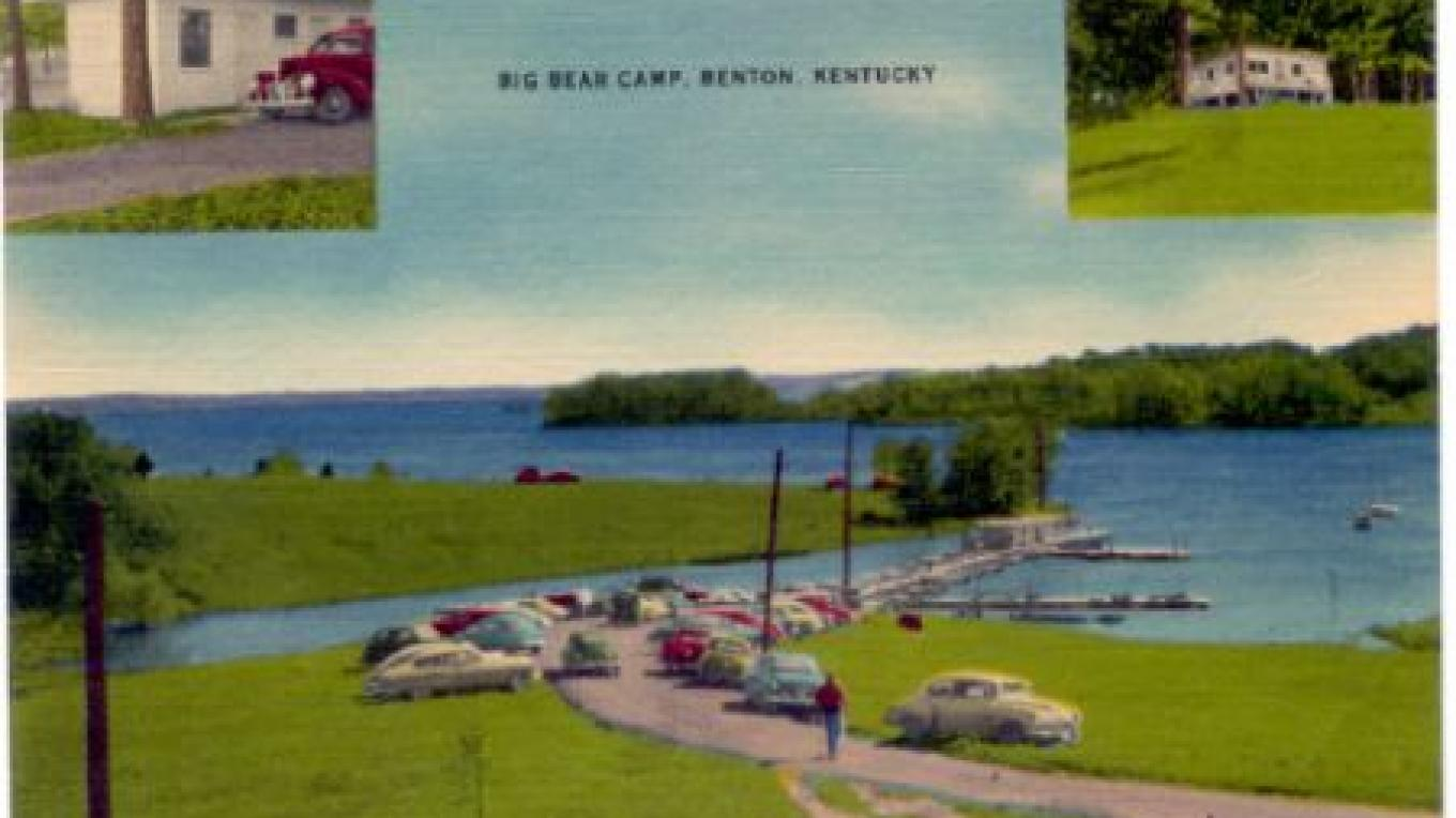 The Resort circa early '50's.  These are all fishermen out for the day in row boats. – Archives