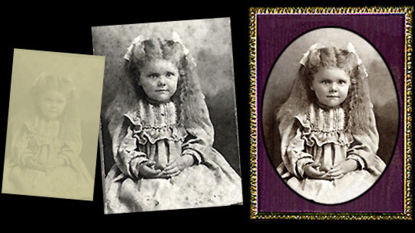 Specialty photographic restoration processes available.