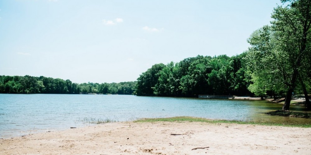 The swimming beach area is open year-round at Mousetail Landing State Park – Cari Griffith