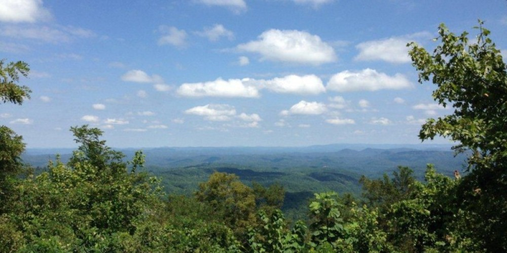 Beautiful view of the Cumberland Mountains from the TWRA trails