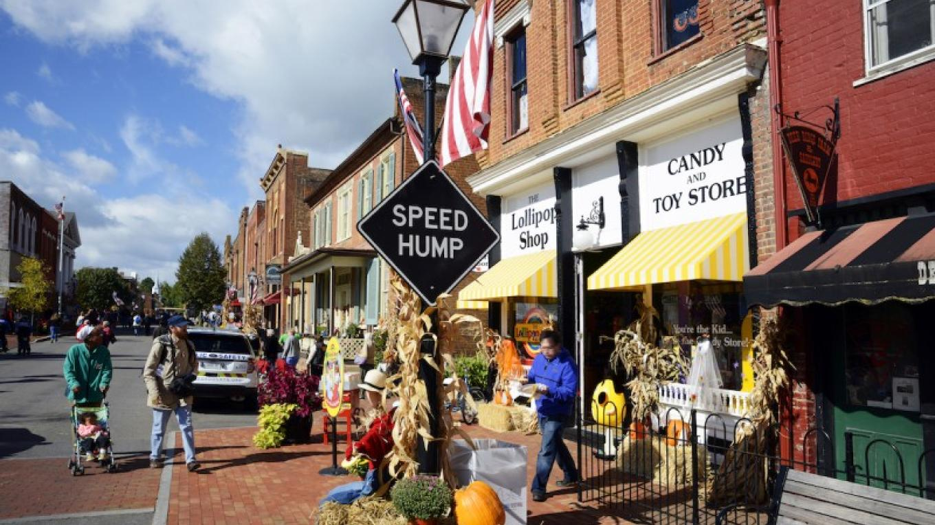 Jonesborough Tennessee during the National Storytelling Festival – Photograph courtesy of Tennessee Tourism