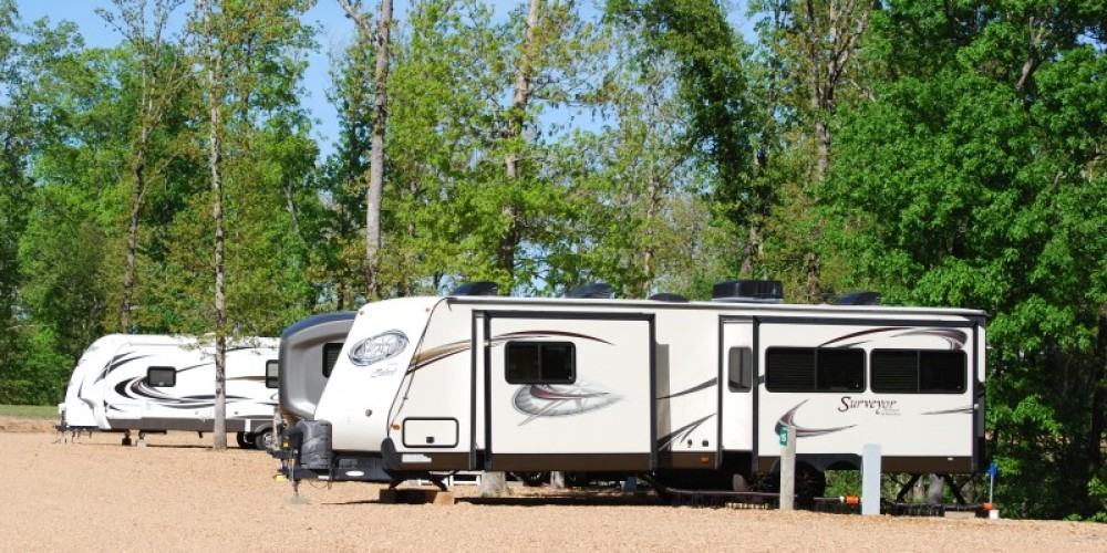 Plenty of room for your RV! – Swan Bay Cabins & RV Park