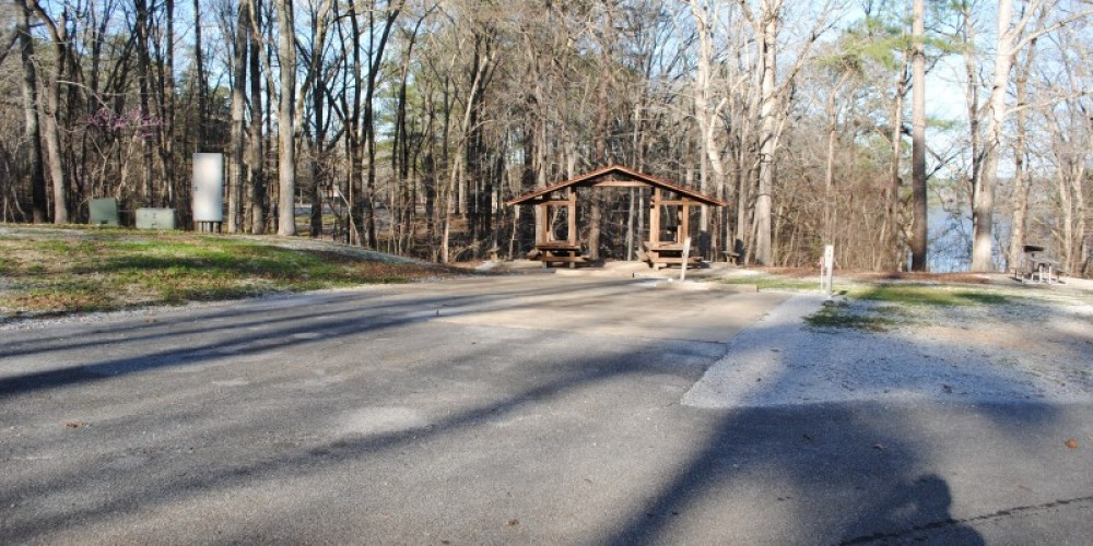 Small picnic shelter and RV pads. – James Gibson