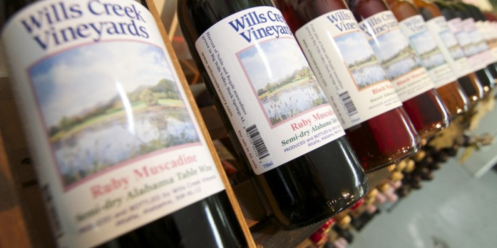 Wills Creek Winery offers an assortment of wines handcrafted in Alabama. – Brad Wiegmann