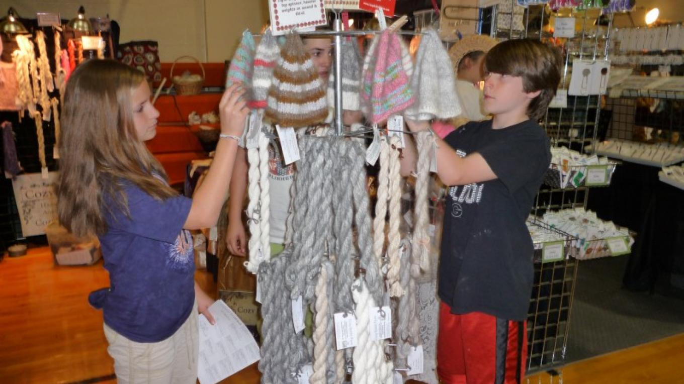 Fiber Fest marketplace – Townsend Visitors Center