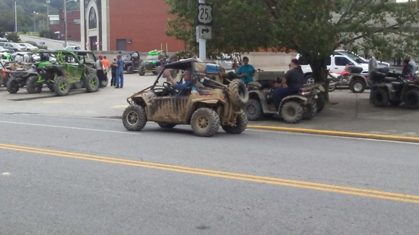 ATV riders through downtown City of LaFollette