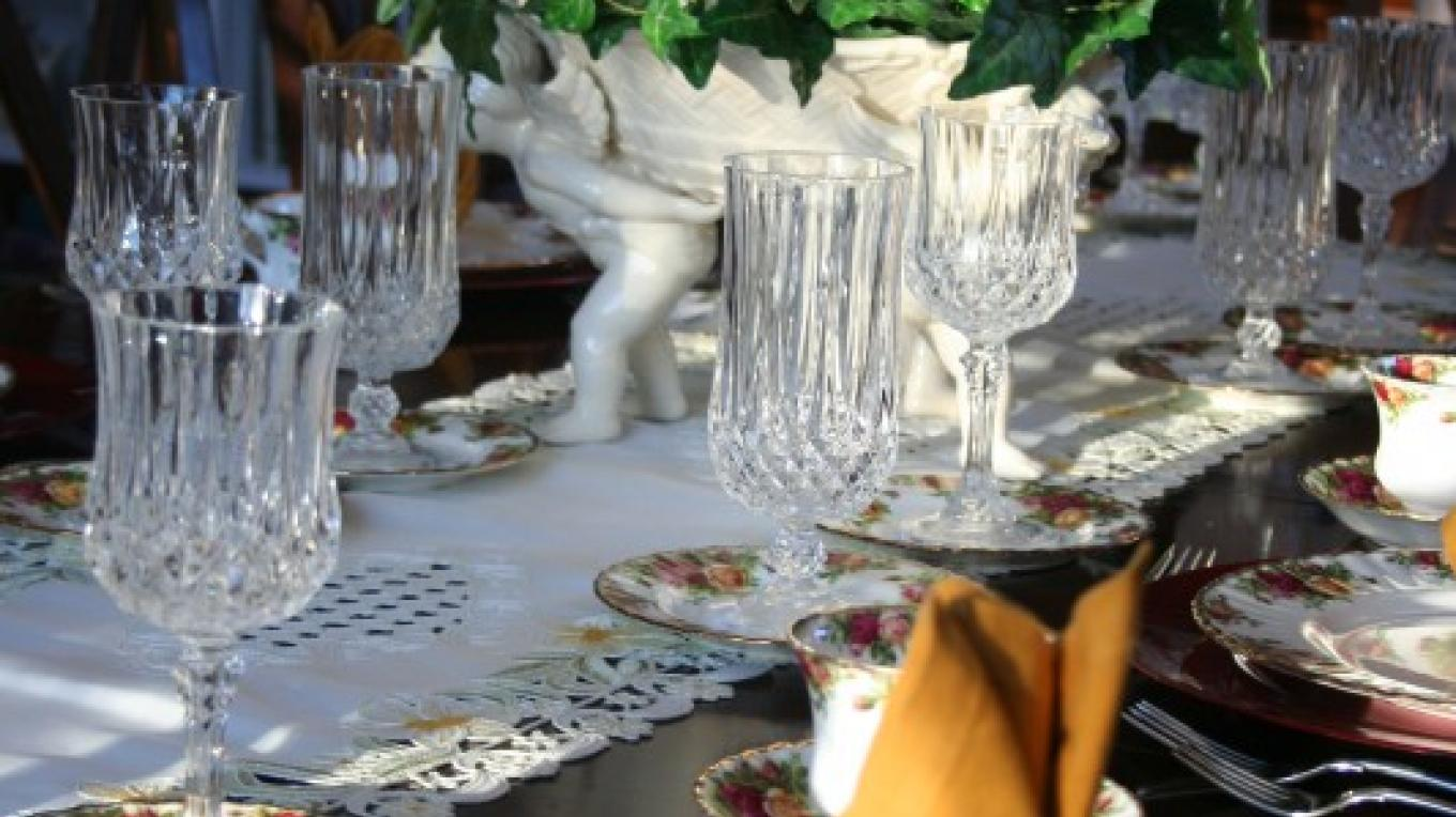 Table set for breakfast – Shirley H. Price
