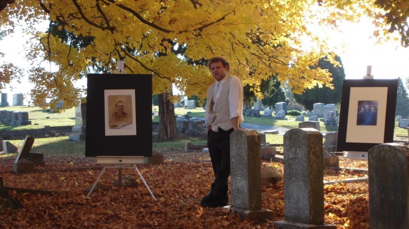 A living history is protrayed at selected gravesites as the historical society hosts the annual Fort Hill Historic Cemetery Tour. – Melissa Woody