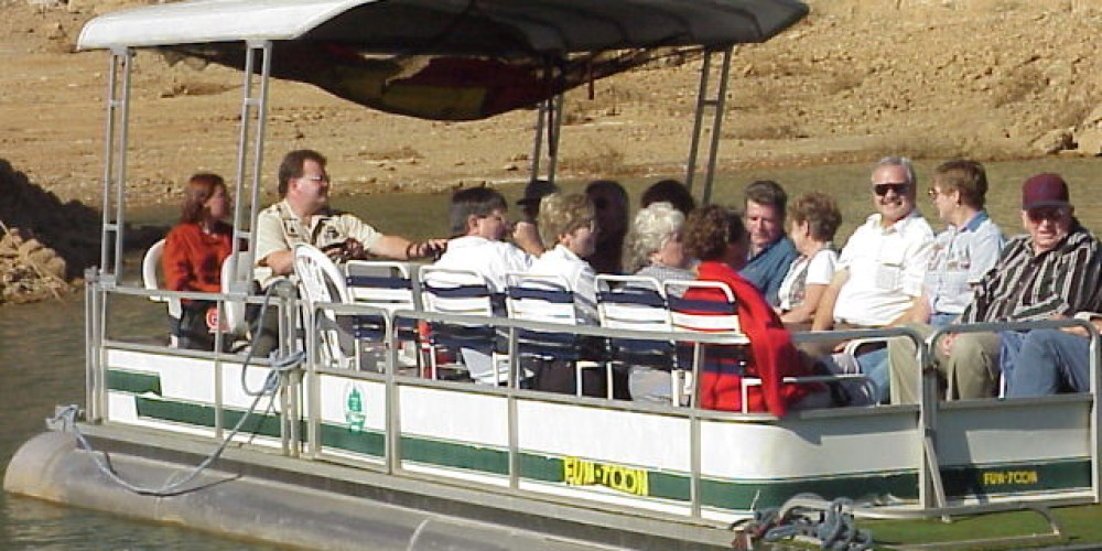 Pontoon Boat Cruises are popular in the fall at Norris Dam State Park – State Photo