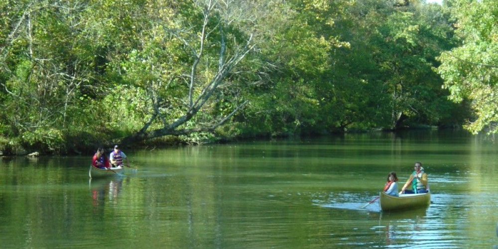 Canoeing on Cohulla Creek during the Fair. – Prater's Mill Foundation