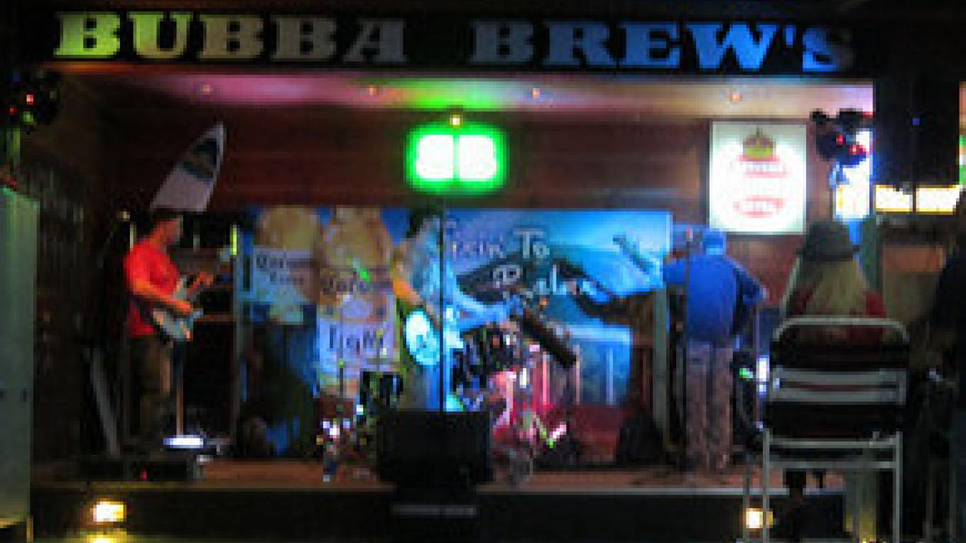 Stage for live bands every Saturday night 7pm-11pm