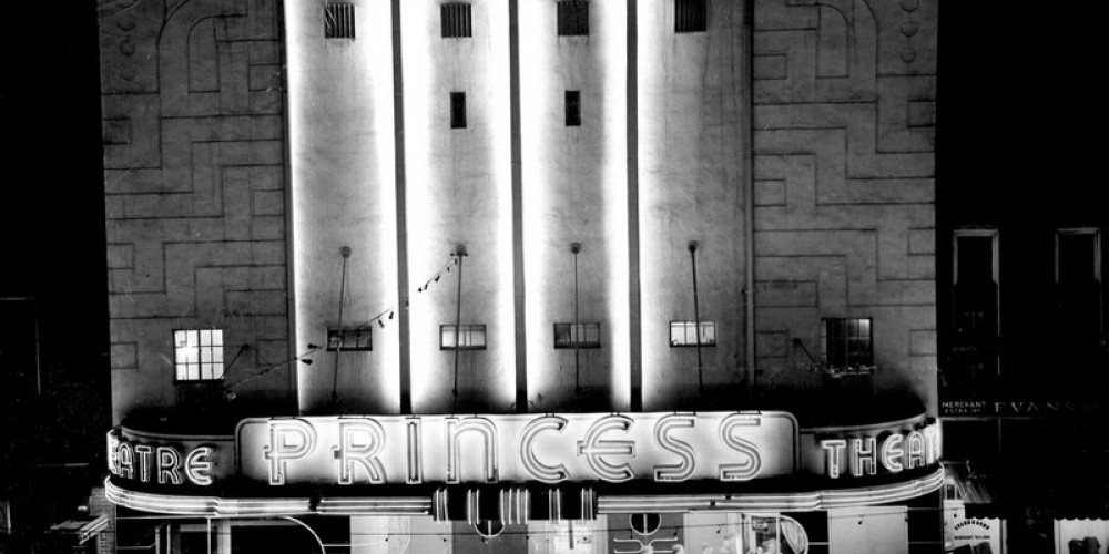 1939 professional photo of the Princess grand opening. – Unknown