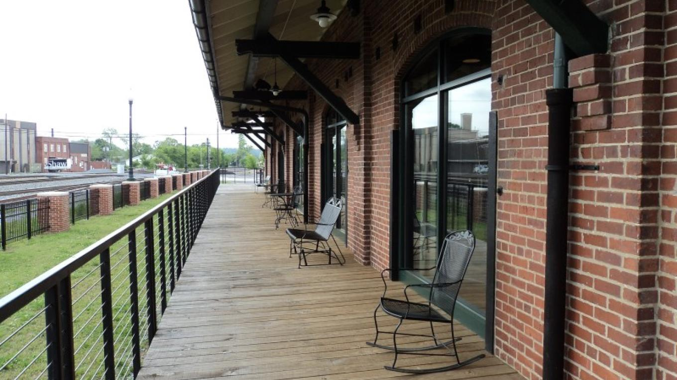 Train Viewing Platform at the Dalton Freight Depot – Ty Snyder