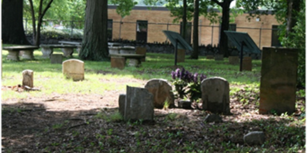 View of gravestones looking toward the northwest wall of Brainerd Mission Cemetery – Bettie Purcell