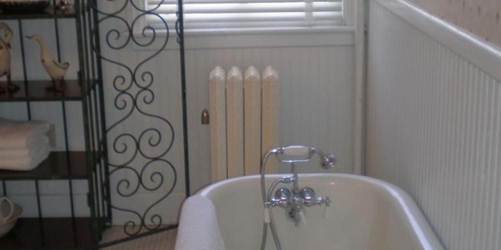 Downstairs guest bathroom. – Radonna Parrish