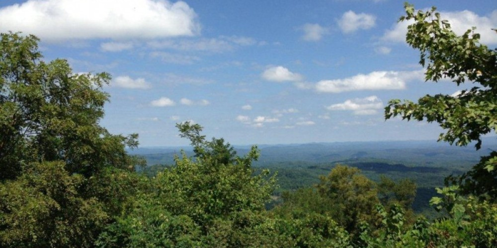 Beautiful Cumberland Mountain View from the TWRA trails