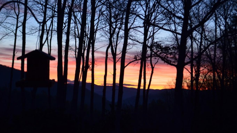 Sunrise of Doe Mountain from Iron Mountain Inn