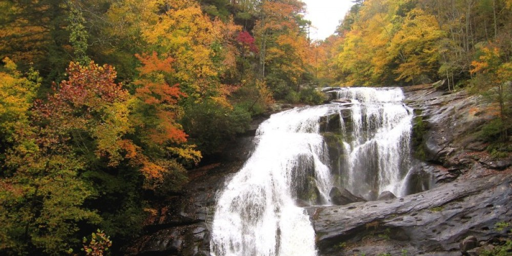 Bald River Falls in Tellico Plains – Cherokee National Forest