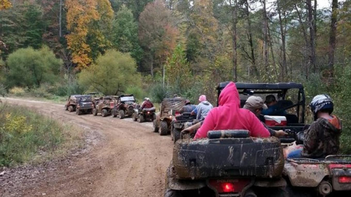 One of the organized rides headed on a tour of the TWRA trails