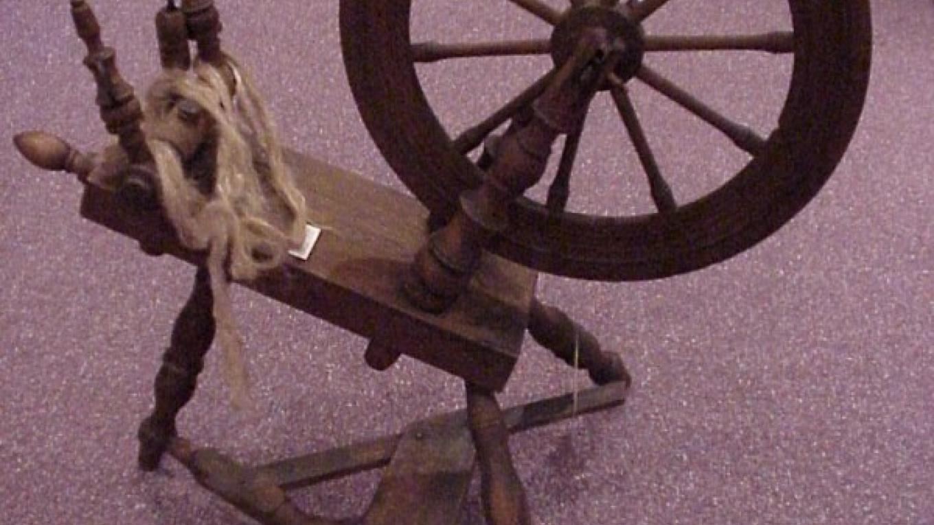 Spinning Wheel at the Lenoir Museum