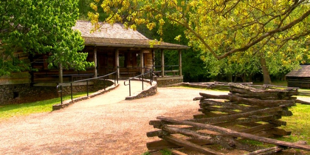 Cades Cove Visitor Center in the historic Cable Mill area – Valerie Polk, GSMA