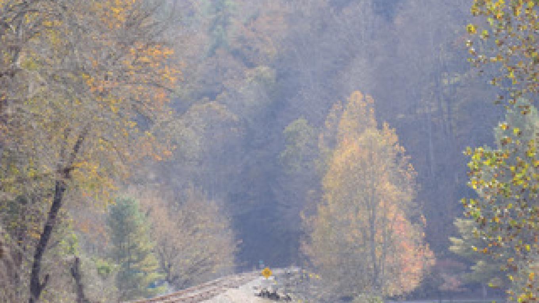 Train tracks for Hiwassee River Rail Adventures – Jim Caldwell