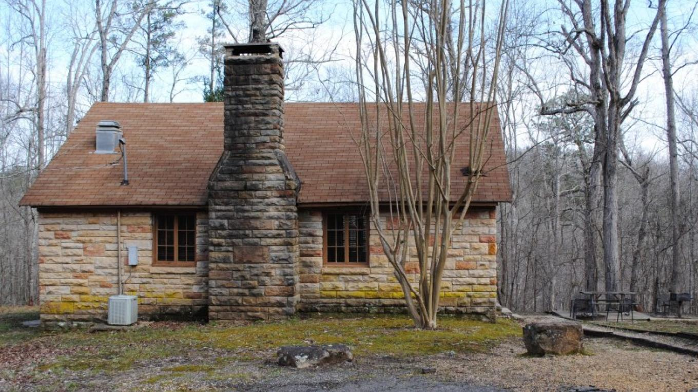 Native Rock cabin built by WPA. – Gary Mathews
