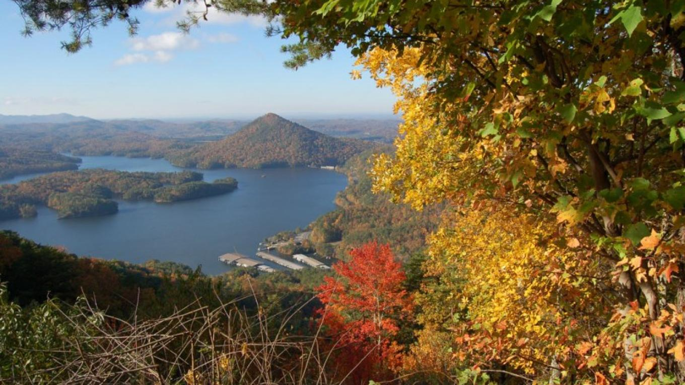 The view from Chilhowee is breathtaking in every season. – Jim Caldwell