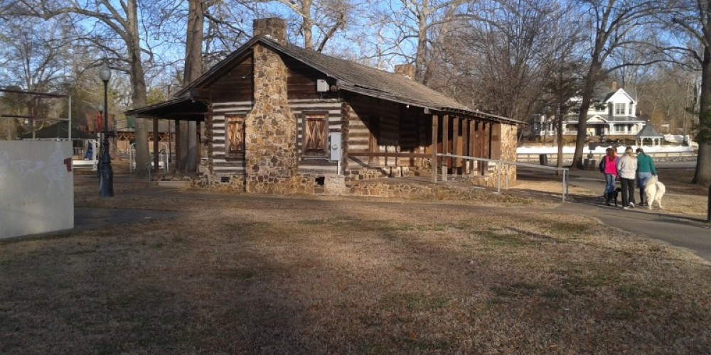 """Nearby """"DogTrot"""" log cabin – James Gibson"""