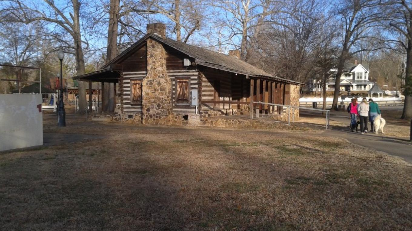 "Nearby ""DogTrot"" log cabin – James Gibson"