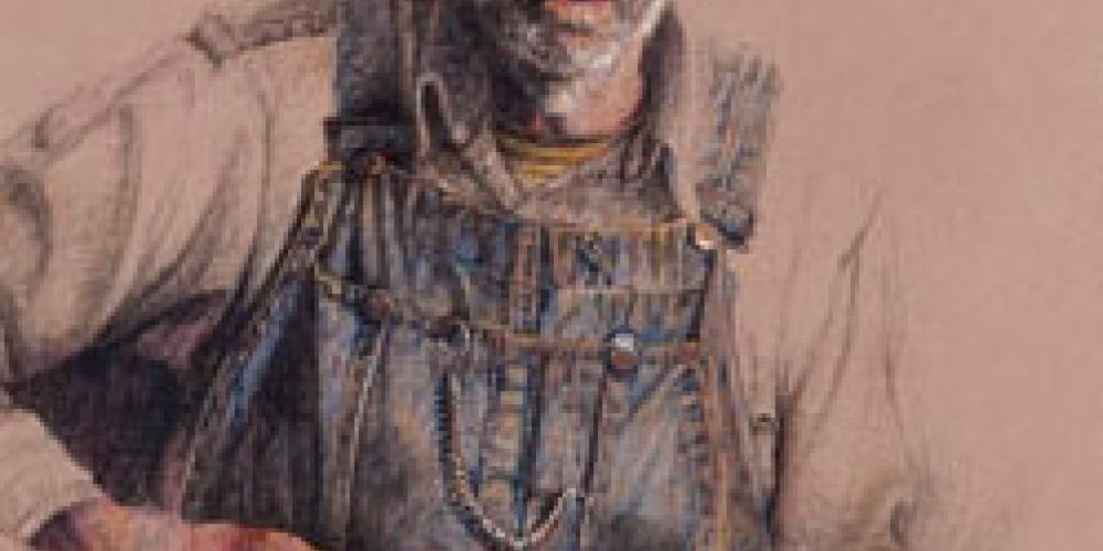 Gunslinger - Milt color pencil – Paul Murray artist