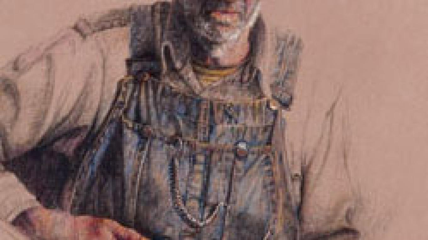 Gunslinger - Milt color pencil – Paul Murray artist