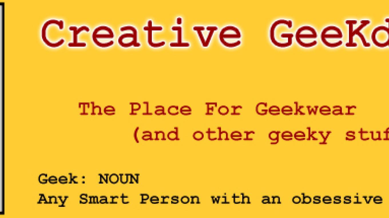 Creative Geekdom online shopping store