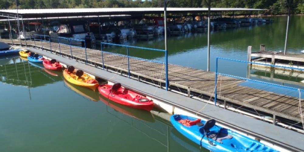 Kayaks at Boundary Waters Resort & Marina on Lake Chatuge in Hiawassee, GA. – Kevin Clem
