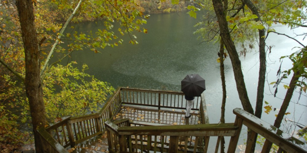 Observation Deck at Mead's Quarry Lake – Knoxville News Sentinel