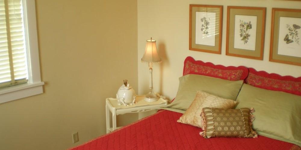 Typical queen bed. – Radonna Parrish