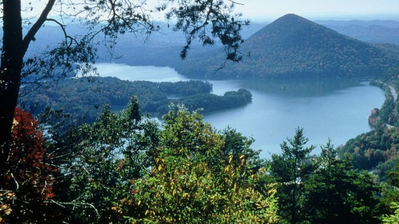 Chilhowee Overlook onto Parksville Lake – Jim Caldwell