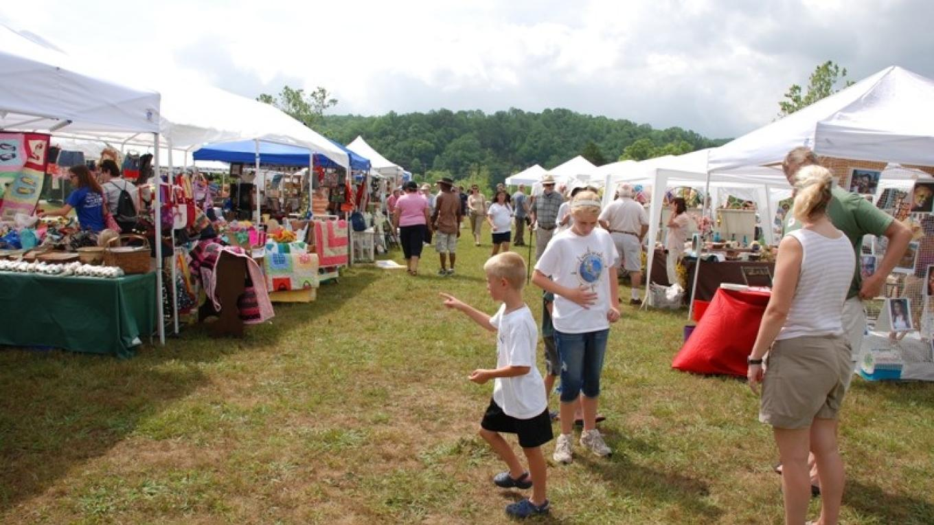 Local crafts are a draw in the Craft Village at Louie Bluie – Bob Fulcher